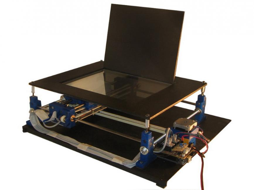 DiyouPCB is an open-source PCB printer which uses a Blu-Ray™ pickup ...
